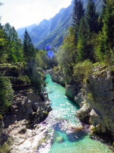 Soca river and mountains
