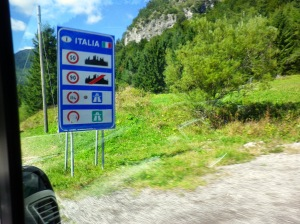 We enter Italy without any notice taken