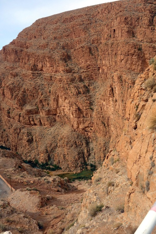 geology in the Dades Gorge