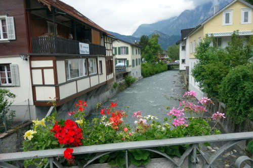 geraiums, stream and other mountain, Bad Ragatz