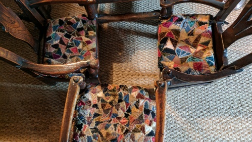 crazy quilt chairs